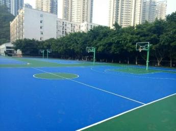 南开融侨中学硅PU篮球场地